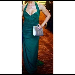 Nicole Miller Emerald Green Gown Size 6